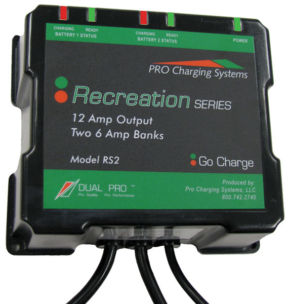 Charging Systems Recreation Series 6 Ampsx2 Charger Rs2