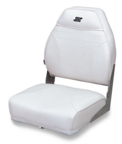 Wise High Back Fold Down Seat White 21 3 4 H X 16 W