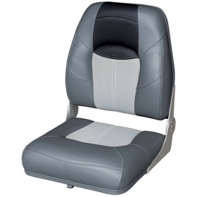 Wise High Back Boat Seat Charcoal Grey Black 21 H X